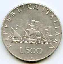 Italy 500 Lire 1966 nice Hg silver coin   lotmar5578