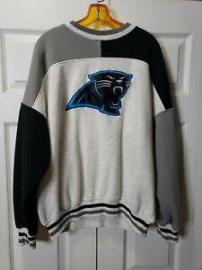 Vtg 90s NFL Carolina Panthers Embroidered Logo Sweatshirt XL - Color Blocking