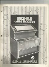 New listingAmerican Jukebox Rock Ola parts catalog model 448 449 original
