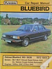 AUTODATA CAR REPAIR MANUAL * DATSUN BLUEBIRD 160B 180B MkI MkII 1972 - 1984 free
