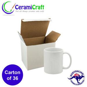 Dye Sublimation White Coffee Mug AAA 36 x 11oz Gift Box Dishwasher Proof