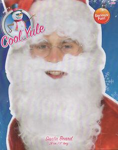 "Santa Claus Father Christmas Beard 28cm / 11"" Long Fancy Dress Accessory"
