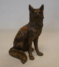 Reflections Bronzed Sitting Fox Ornament Figure by Leonardo BNIB FOX STATUE