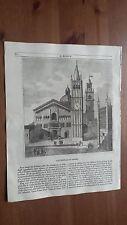 1838 L'Album Belle Arti: Veduta Cattedrale di Parma