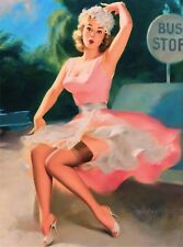 1940s Pin-up Girl Ballet Picture Poster Print Vintage Art Pin up