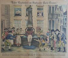 ANTIQUE RARE GERMAN LITHOGRAPH BEEKER ST NY MANHATTAN RISQUE NUDE CARTOON ART