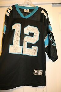 """Panthers Autographed Jersey """"Collins""""  #12  #91 Kevin Green, #12 Kerry Collins,"""
