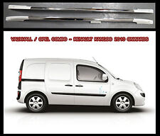 Fiat Doblo / Opel Combo Roof Rail Aluminium / White 2010 Onwards non drill set