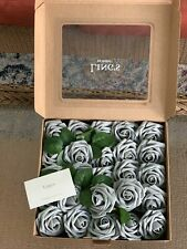 Gray Artificial Roses For Wedding Or Party 25 Piece