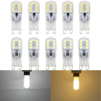 G9 Silicone Crystal LED Corn Bulb SpotLight White Lamp Home Light Supper Bright-