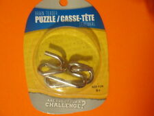 Intelligence Puzzle Brain Teasers Wire Metal. Lot of 3 packs