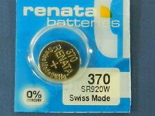 Renata 370 SR920W Batterien Knopfzelle, 1Pcs