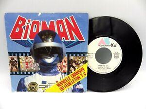 45 tours Disque Vinyles 45T BERNARD MINET bioman Ab production.