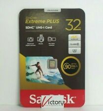 NEW SanDisk Extreme PLUS SDHC UHS-I Card | 32GB | 1014008 90MG Read Speed