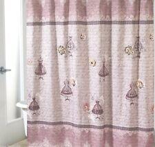 Avanti Juliet Shower Curtain Vintage French Script Shabby Chic Dress Floral Lace