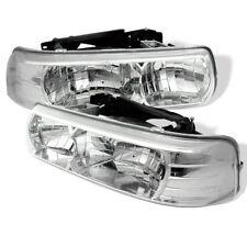Spyder Auto Crystal Headlights - Chrome for Chevy Silverado, Tahoe, Suburban