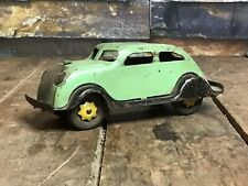 Vintage 1930's Marx Chrysler Airflow/ Pressed Steel & Wood Wheels / All Original