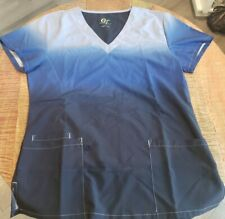 Gt Performance Womens Scrub Top Size M Blue Ombre Quick Dry