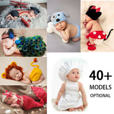 Crochet Newborn Baby Photography Props Knit Boys Girls Costume Infant Outfit New