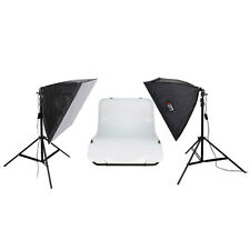 LIFE of PHOTO Aufnahmetisch-Set AT-4040-2 mit Softboxen 40x40 cm & 2x105 W Lampe