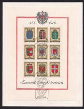 Austria - 1976 1000 years Austria souvenir sheet Fdc