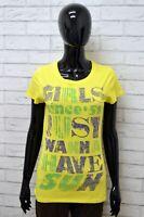 Maglia SUNDEK Donna Taglia Size S Maglietta Shirt Woman Manica Corta Cotone Slim