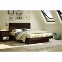 South Shore Basic Queen Platform Bed in Chocolate