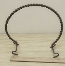 Vintage twisted braided wire handle rusty antique pot basket making craft