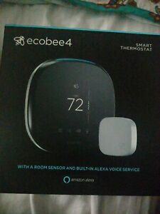 New Ecobee - Ecobee4 Wi-Fi Thermostat with Room Sensor and Built-In Alexa Black