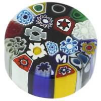 GlassOfVenice Murano Glass Millefiori Round Paperweight - Small