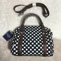 Sloane Ranger Small Women's Crossbody White Squares Stripes Black  Bag Purse
