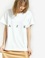 BNWT AJE Womens Bianca Tee Shirt Crew Neck Roll Sleeve T-shirt Tops SZ XS S M