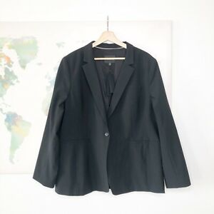 Banana Republic Long and Lean Blazer Size 20 Black Italian Wool Machine Washable