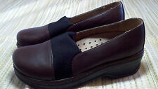 Klogs Brown Leather Slip Resist Clogs Slip-On Size 9 / 10