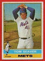 1976 Topps #600 Tom Seaver VG-VGEX WRINKLE New York Mets Reds HOF FREE SHIPPING