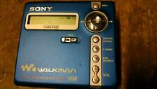 Blue Sony Mini Disc Walkman Net-Md Mz-N707 Type R Not Fully Tested Read Ad