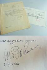 Michael BOHNEN (1887-1965) Intendant DEUTSCHE OPER: Einladung zum Vorsingen 1946