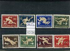 Jugoslavia 1956 serie olimpiadi di Melbourne 706-13   USATA