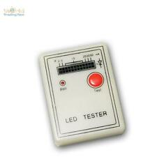 TESTER a LED per 12 LED, funzioni Luminosità e polarità, incl. BATTERIA 9v