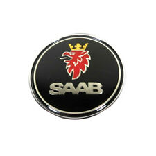 "1pcs SAAB 93 95 Hood Emblem Black 68mm 2.67"" Front Round Badge Decal 97X Logo"