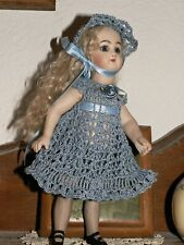 "Dress, Pants, Bonnet Set for 6.5 - 7.5"" Antique Doll Mignonette / Kish Riley"