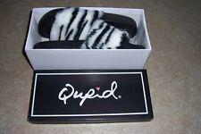 Qupid Womens Boo boo-01 Slipper, 10 ,Zebra Faux Fur New with box