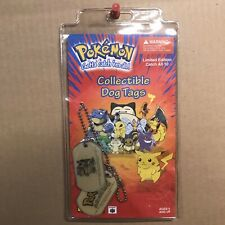 New Sealed Pokemon Collectible Dog Tags Blastoise 1999