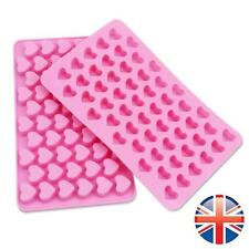 *UK Seller* Silicone 55 Heart Ice Cube Tray Chocolate Cake Baking Mould Hearts