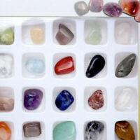 20pcs Crystal Gemstone Reiki Polished Healing Chakra Stone Collection Display