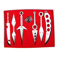 Seven Weapon Anime Naruto Cosplay Model Metal Sword Knife 7pcs/set