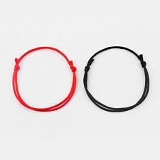 2 x Handmade Red/Black String Kabbalah Lucky Bracelet Against Eye Success