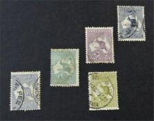 nystamps British Australia Stamp # 46//51 Used $90