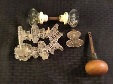 Lot Of Vintage Glass Door Knobs And Other Knobs