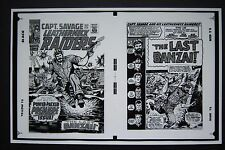 Production Art CAPT. SAVAGE & LEATHERNECK RAIDERS #1 cover & splash, DICK AYERS
